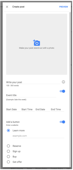 Google Posts Now Available